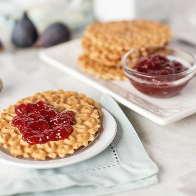 Pizzelle with Raspberry Jam