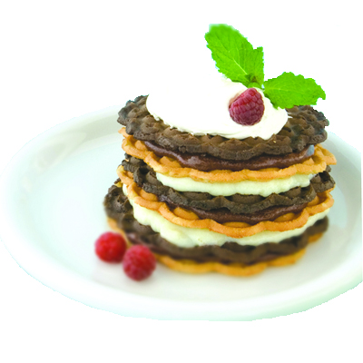 Layered Pizzelle Cake