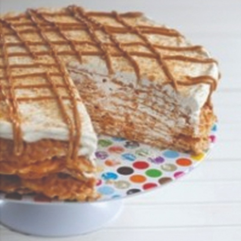 Peanut Butter Pizzelle Cake