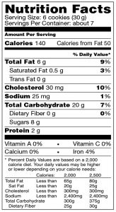 Pizzelle Banana Nutrition Facts US