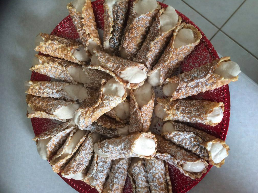 Ricotta and Whipped Cream filled Pizzelle Cannoli