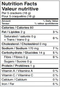 Cracked Black Pepper Nutrition Facts Canada